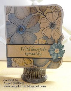Close to my heart paper card w Pemberly large flower paper