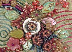 robin atkin, bead embroideri, beauti bead, robins, bead quilt