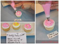 Pretty Buttercream Hat  tutorial by Lovely Turorials  found in MARIA'S (for home baked cakes & cupcakes) FB Page