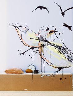 Birds!  The talneted Swede Lo Bjurulf