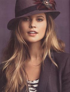 Love this Look! Awesome Hat! Behati Prinsloo, Ann Taylor Loft F/W 10