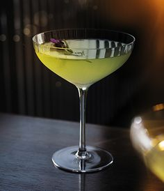 Grey Goose Le Citron Snowfall Martini cocktail that brings fresh lemon notes to the sweetness of honey and vermouth.