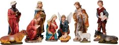 """12 PIECE 20"""" FULL COLOR NATIVITY FIGURE SET  20"""" hand painted resin figures with removable Jesus! We traveled the globe to find this set and are proud to be able to offer it at such a remarkable price! Beautiful for indoor or outdoor use! Measurements.  (Item #53314) $995.00   SALE! NOW $395.00"""