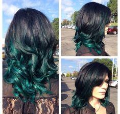 Pravana vivids green hair
