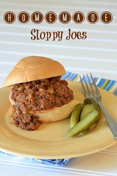 Homemade Sloppy Joes recipe with gluten-free buns!