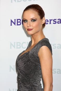 Alyssa Campanella rocks a slicked back hairstyle