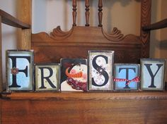 Frosty the Snowman Winter Decor Sign by PunkinSeedProduction, $42.00