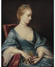 ❤ - Portrait of Miss Jacobs by Joshua Reynolds