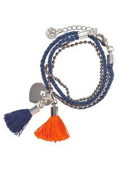 Hand braided bracelet with removal tassels. Cute.
