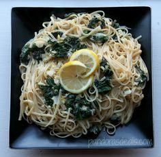 Spinach and Lemon Linguine