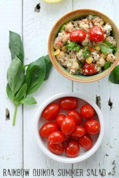 Rainbow Quinoa Summer Salad - BoulderLocavore.com #glutenfree #salad