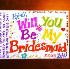 Will You Be My Bridesmaid? How to Pop the Question