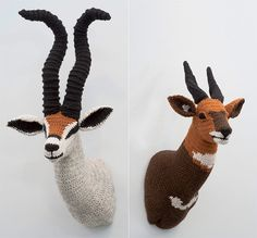 Because a dead animal head on the wall is gross- but a KNIT ONE is cute.