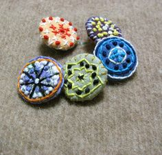 Hand Embroidered buttons