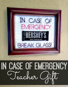 In Case of Emergency Gift for Teachers {Tutorial}  #SharpieBTS #PMedia #ad | www.inspirationformoms.com