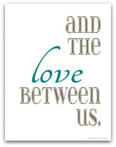 Free Food, Family, Love (Brown and Aqua) Free Wall Art Download-of-the-Day famili, print