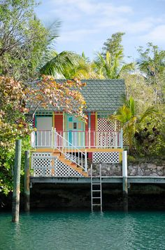 boathouse in the Bahamas