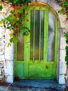 Beautiful Grass Green Door