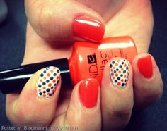 Bright and summery nail art.  By Victoria H