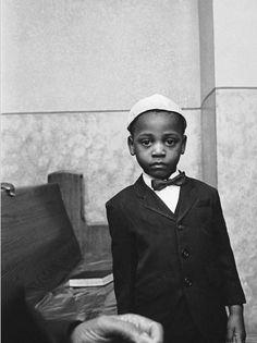 Jewish Boy in Harlem, 1960's.