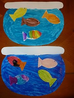 one fish, two fish, red fish blue fish with template.
