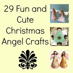Christmas decorating is just not complete until you have a few angel crafts!