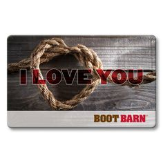 Boot Barn® I Love You Gift Card  #valentinesday #gifts