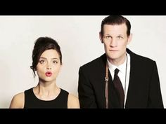 Matt Smith and Jenna Louise Coleman The Times Photoshoot. I love that she's on a stool but still tiny!