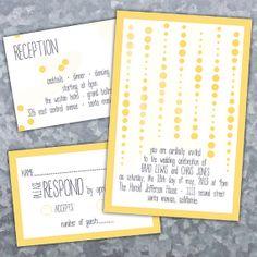Cascading Dots Same-Sex Wedding Invitations by InviGAYtions on Etsy