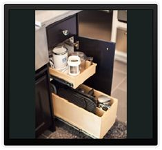 Side Drawer/Narrow Cabinet from Gliding Shelf Solutions Inc. which helps you 'Live Life Within Reach'.