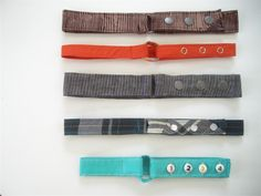 Fabric belts for boys.