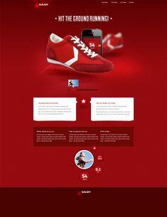 Free PSD - Run App Website  #psd #photoshop #layout #template #webdesign #freebie #free