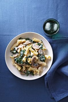 Campenelle with Mushrooms and Kale   from familycircle.com #myplate #pasta