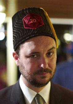 Wil Wheaton and his D20 fez
