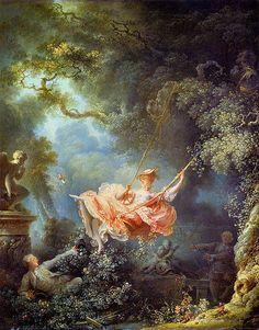 the swing, french paintings, jeanhonoré fragonard, jeanhonor fragonard, jean honore fragonard, swings, art, inspir, beauti