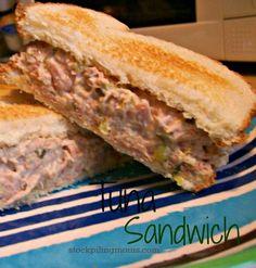 Tuna Sandwich Recipe #stockpile  http://www.stockpilingmoms.com/2012/11/tuna-sandwich/