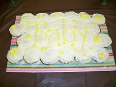 baby shower cupcake cake i would write it 39 s a boy more