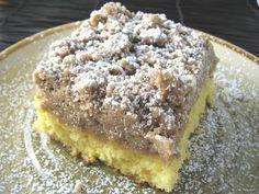 If yu like Starbuck's coffee cake....... Sooooo yummy and easy! It starts with a box of yellow cake mix.