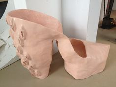 Fat Nude Vagina Shoe sculpture by TashaPaulusArts on Etsy, $1100.00... Oh dear...