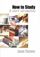 How to Study: a Short Introduction by Joan Turner