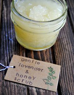 Gentle lavender honey scrub - great for face, hands and cuticles! And only 4 ingredients!