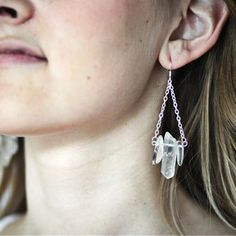 Quartz Earrings Silver-Plated now featured on Fab.