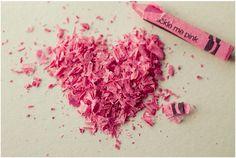 Crayon shaving heart