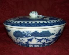 Mottahedeh Canton Small Tureen with Strawberry Finial Perfect