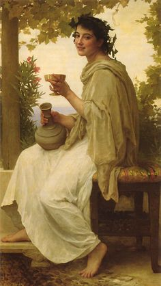 Bacchante by William-Adolphe Bouguereau