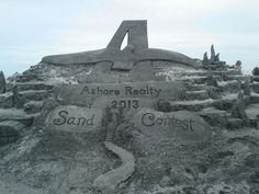 Professional sand sculptor, Matt Deibert's creation for the viewers .....