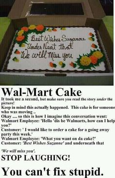 Walmart Cake decorating