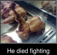 That's some kickin' chicken.