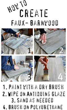 Faux Barnwood. Paint colors and how too.