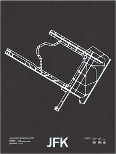 JFK: John F. Kennedy International Airport Screenprint $26